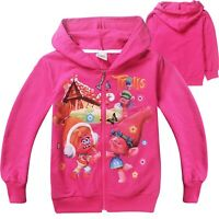 Baby Kids Boys Girls SpongeBob SquarePants Zipper Hoodies Sweatshirts 2-8 years