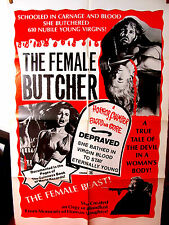The Female Butcher VG Orig.US 27x41 movie poster AKA Legend of Blood  Castle