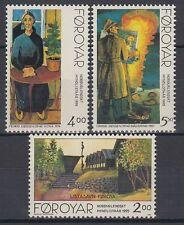 Îles Féroé 1995 ** mi.280/82 art nature   tableaux paintings   Hans pauli Olsen