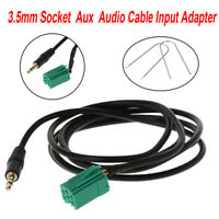 Jack MP3 For Renault Clio Megane Aux In Input Audio Radio Adapters Cable 3.5mm