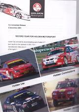 2001 HOLDEN MOTORSPORT Press Media Kit - VX COMMODORE SS V8 SUPERCARS VU UTE