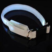 Led Cuello Luminoso Ajustable Luz De Seguridad Nylon Collar Para Perro Mascota