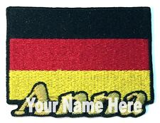 Flag of Germany Custom Iron-on Patch With Name Personalized Free