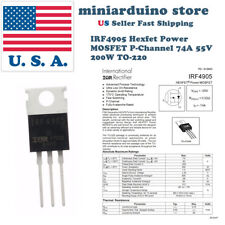 5pcs IRF4905 IRF4905PBF MOSFET FET P-Channel 55V 75A 200W Transistor