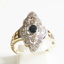 Ring Gold 585er Brillanten Saphir Goldringe 14 kt. Diamant Goldschmuck Edelstein