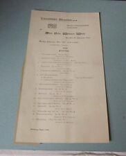 1897 Villa Whitney White Johannes Brahms Concert Program Handel Hall Chicago IL