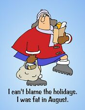 Metal Fridge Magnet Woman Can't Blame Holidays I Was Fat In August Humor Funny