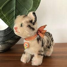 Steiff Katze CAT Tabby Knopf, Schild 14 cm, Schleife, sehr guter Zustand
