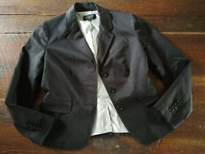 TALBOTS Black Blazer Women's Size 6P Petite Satin Lined
