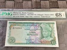 1967-72 Malaysia 5 Ringgit - Superb Gem Uncirculated PMG68 EPQ