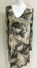 Charlie Brown Women's Dress Fine Knit Animal Print Shimmer Fabric Size 10