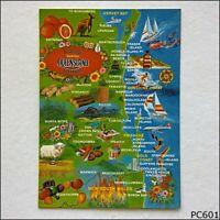 Beautiful South East Queensland Australia Tourist Map Postcard (P601)