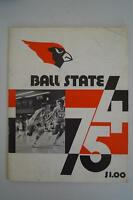 Vintage Basketball Media Press Guide Ball State University 1974 1975