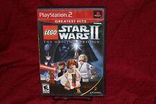 LEGO Star Wars II: The Original Trilogy PS2 Complete CIB Sony Playstation 2
