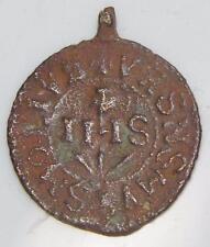 Medieval St. Benedict Shield & IHS Holy Medal Patron Exorcism Christogram Symbol