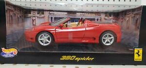 HOT WHEELS 1/18 Ferrari 360 Spider Red Diecast Model #27774 - BRAND NEW!