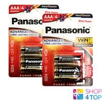 8 PANASONIC ALKALINE PRO POWER AAA LR03 BATTERIEN BLISTER 1.5V AM4 MN2 NEU