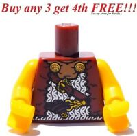 ☀️NEW LEGO MINIFIG MINIFIGURE Brown Round SHIELD Printed Decoration for Warrior