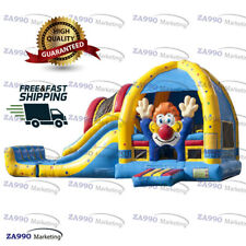 23x13ft Commercial Inflatable Clown Bounce House & Slide Castle With Air Blower