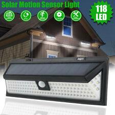 118 LED Solar Security Lights PIR Motion Sensor Wall Lamp Outdoor Garden