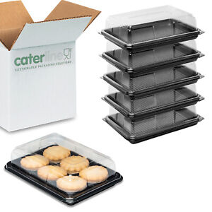 25 x Mini Catering Platters/Trays & Lids | For Sandwiches, Buffets and Parties