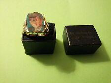 JOHN F. KENNEDY PLASTIC FLICKER RING TWO IMAGES ROBBINS CO. ORIGINAL JEWEL BOX