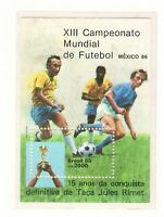 S18997) Brasilien Brazil 1985 MNH Neu World Cup Football S/S