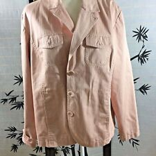 Chico's Womens XL SZ 3 Long Sleeve Jacket 3 Button Peach Blazer Tailored Jacket