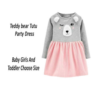 Carters Baby Toddler GirlsTeddy Bear Party Tutu Dress Choose Size MSRP $34.00