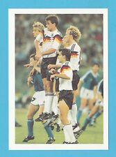 FOOTBALL - BARRATT POSTCARD - WORLD  BEATERS  -  THE  GERMAN  WALL