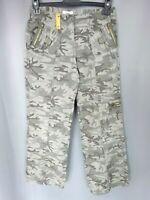 "Pantalon femme style militaire ""Jennyfer"" Kaki Taille: FR38 US6 UK10 W30 L32"