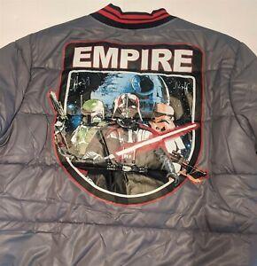 Star Wars GALACTIC EMPIRE Adult Puffy Jacket Boba Fett Darth Vader SIZE XL