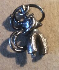 Cowboy Charm or Pendant in White Metal