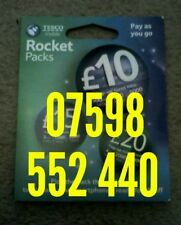Tesco Standard Micro nano Sim Card Good Gold 4G mobile phone number new 552 440
