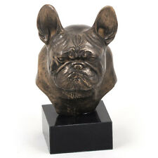 Bouledogue français,French Bulldog2,statuette sur marbre, bronze, chien, Art Dog