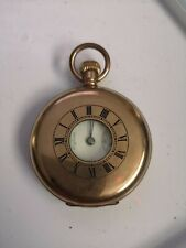 Rolled Gold Vintage Half Hunter Pocket Watch