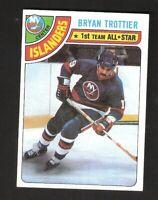 1978-79 Topps BRYAN TROTTIER 1st All-Star #10 Near Mint New York Islanders