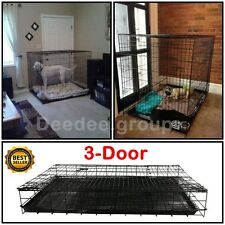 Dog Crate Cage House Extra Large Giant XXL Folding Wire Metal Puppy Kennel Safe
