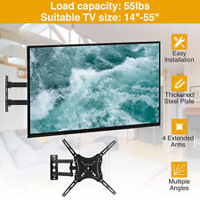 "Full Motion TV Wall Mount Bracket LED LCD Flat Screen 14""17""21""37""40""49""52""55"""