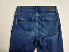 Paige Skyline Women's Size 25 Ankle Peg Zipper Fly Dark Jeans Made in USA! (A12)