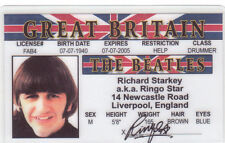 Ringo STAR of the BEATLES fun collectors card Drivers License Starr