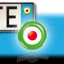 3 ADESIVI targa TRICOLORE ITALIA stickers auto moto camper bandiera Italy