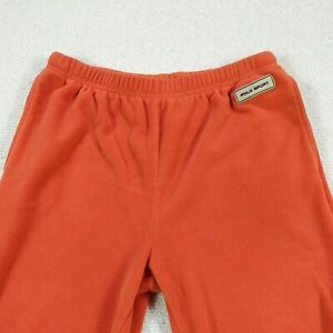 Vintage Ralph Lauren Polo Sport Polartec Fleece jogger track Pants orange Sz L