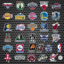 ALL 30 NBA TEAM MINI BASKETBALL LOGOS + 1 FREE NBA LOGO VINYL STICKERS DECALS