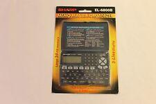 SHARP MEMO MASTER Electronic Organizer EL-6800B 3 Line Display EL-6800B
