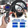 Professional LCD Digital Tyre Inflator Gauge Air Line Pump Pressure Tester Hose