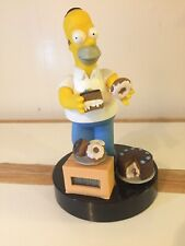 Homer Simpson Chocolate Cake Donuts Alarm Clock 1998 by Twentieth Century Fox