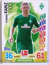 Match Attax 2017/18 Bundesliga - #051 Florian Kainz - SV Werder Bremen