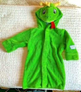 Disney Store Baby Einstein Bard the Dragon Bath Robe Towel Green 12 M