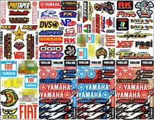 Many logo 8 sheets ST33 car motorcycle motocross bike sport racing decal sticker